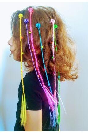 Papakudi Kız Çocuk Renkli 6 Adet Örgülü Mandal Tokalı Saç Aksesuar Seti