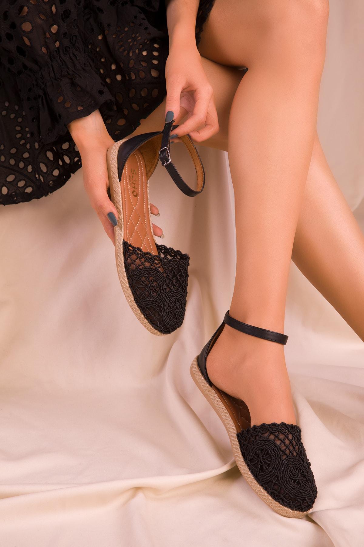 SOHO Siyah Kadın Sandalet 15046 1
