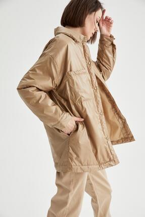 DeFacto Oversize Fit Gömlek Yaka Yağmurluk