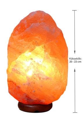 SULSALT Himalaya Tuz Lambası 4-6 Kg | Kaya Tuzu Lambası | Himalaya Tuzu Lamba | Sivri Dağ Şekil Boy 20-23 Cm