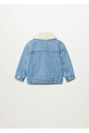 MANGO Baby Kız Bebek Mavi Ceket