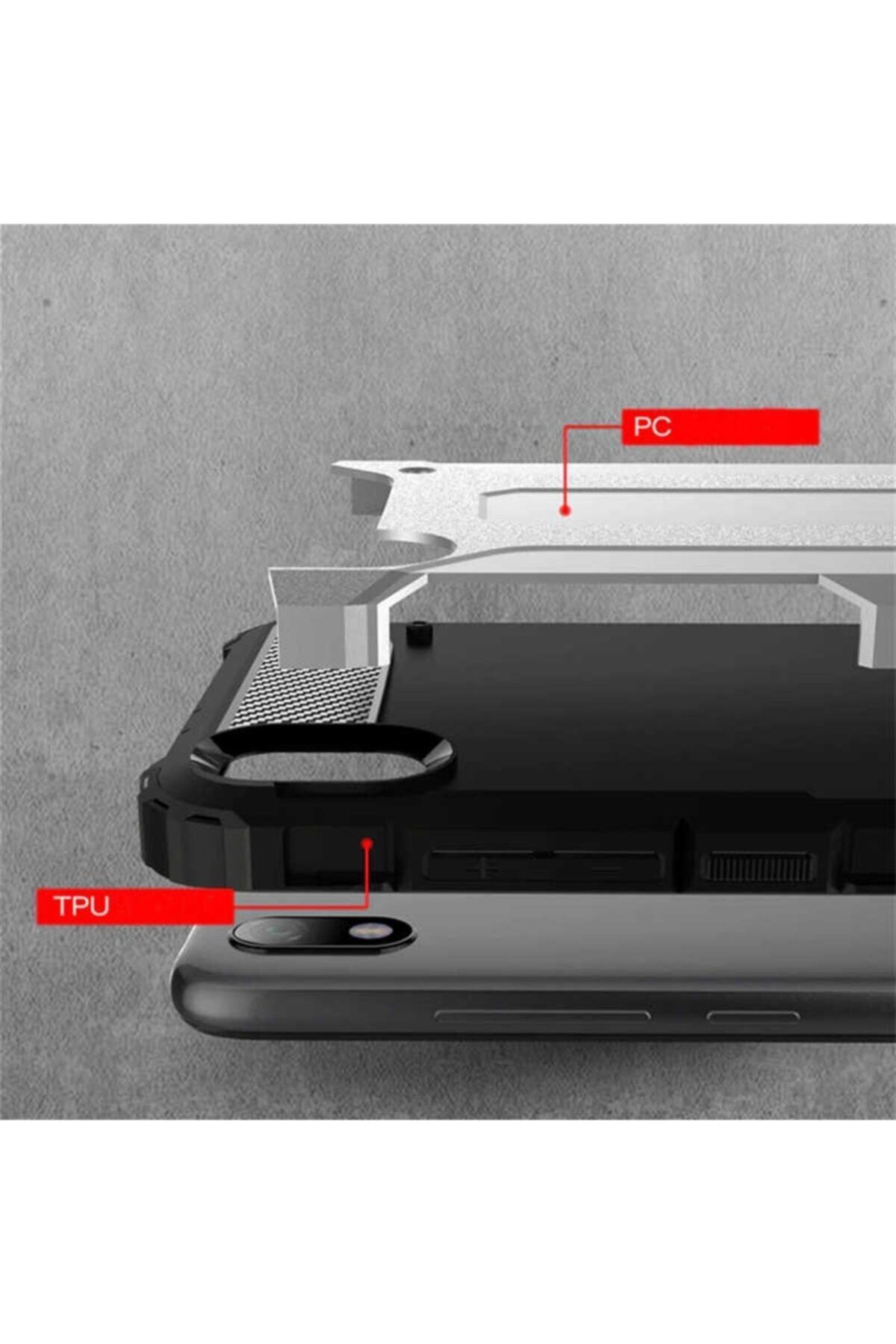 Cepaxesuar Xiaomi Redmi 7a Kılıf Çift Katmanlı Tank 2