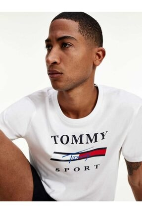 Tommy Hilfiger Tommy Sport Signature Erkek Tshirt