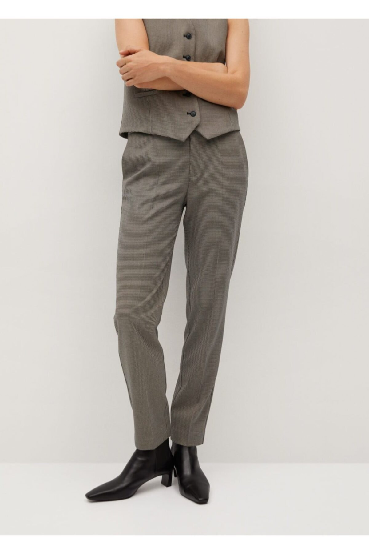MANGO Woman Kadın Kahverengi Pantolon 1