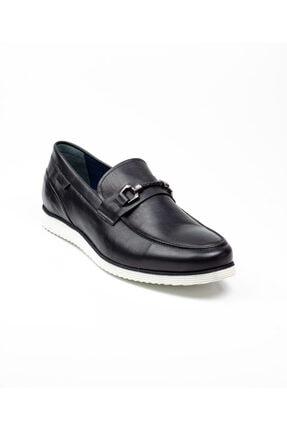 MARCOMEN 6531 Büyük Numara Siyah Deri Erkek Klasik Ayakkabı Siyah-46