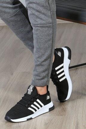 Madmext Erkek Şeritli Siyah Sneaker Ms027