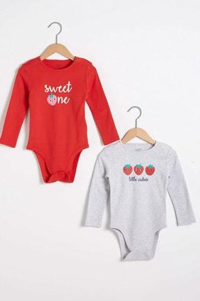 LC Waikiki Kız Bebek Canlı Kırmızı Hc3 Bebek Body & Zıbın