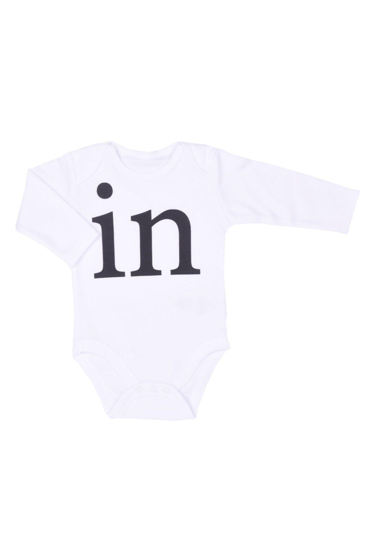 kitikate Unisex Bebek Beyaz Twin 2li Amerikan Yaka Body 2