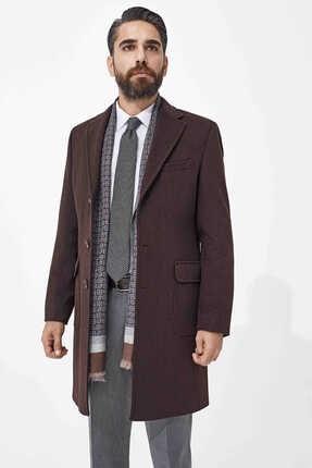 Hatemoğlu Kahverengi Kırlangıç Yaka Yünlü Palto