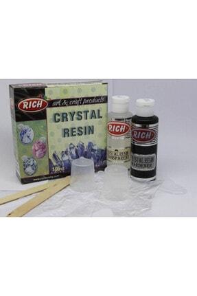 Rich Crystal Resin Transparan Şeffaf Kristal Reçine 195 cc. Set