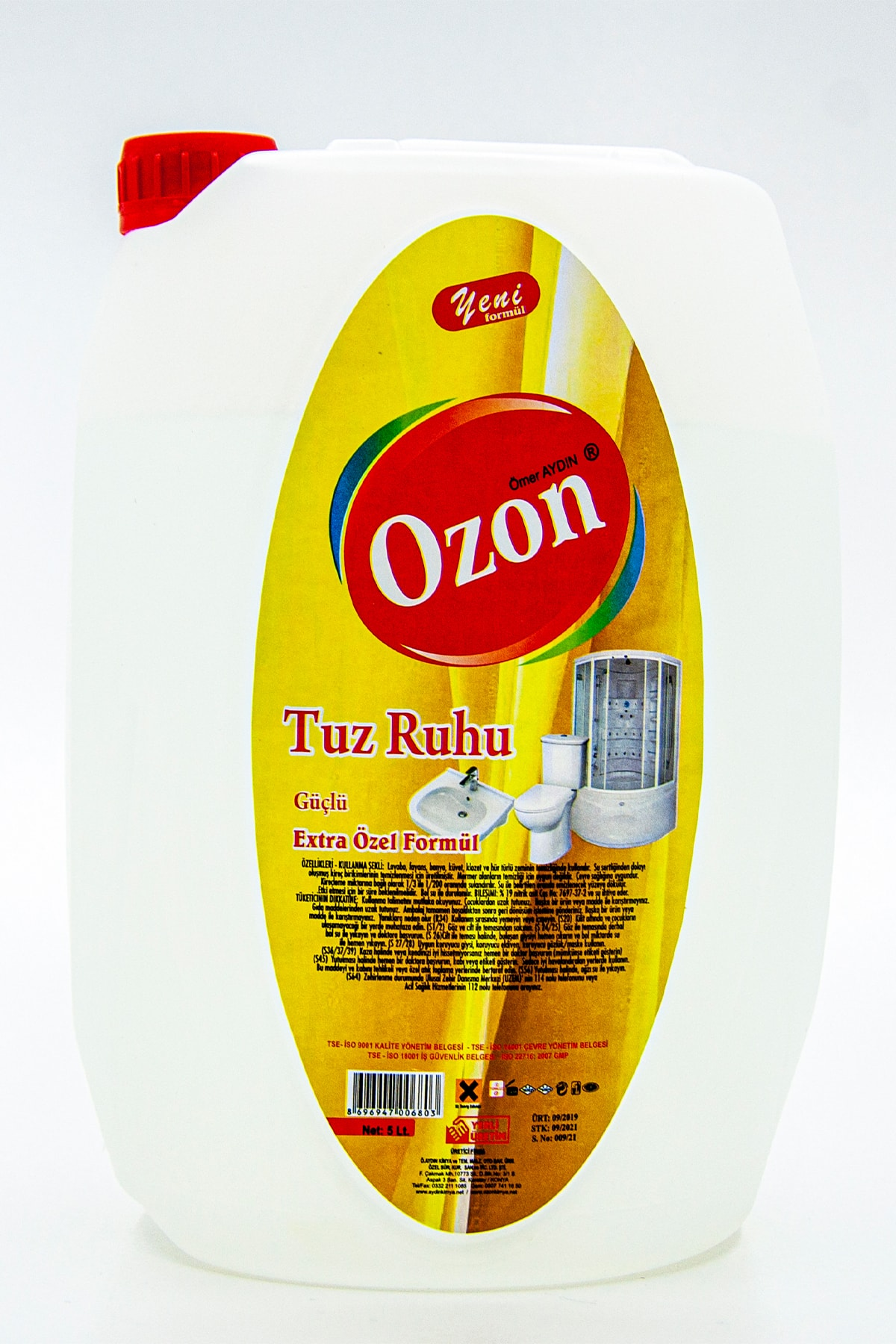 Ozon Tuz Ruhu 5l, Ekstra Özel Formül, Çevreci, Doğa Dostu 1