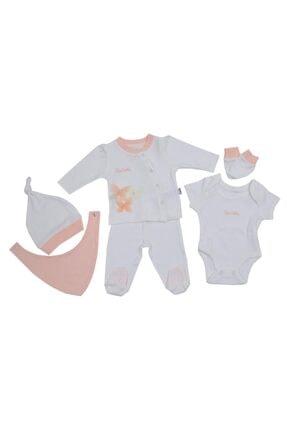Pierre Cardin Baby Yeni Doğan Hastane Çıkışı 5 Li Kelebek Takım Set