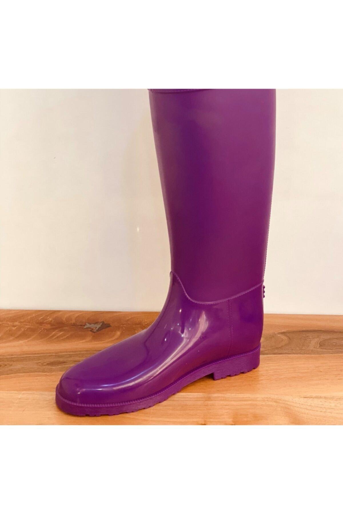 Duman Bayan Uzun Yağmur Çizmesi 2