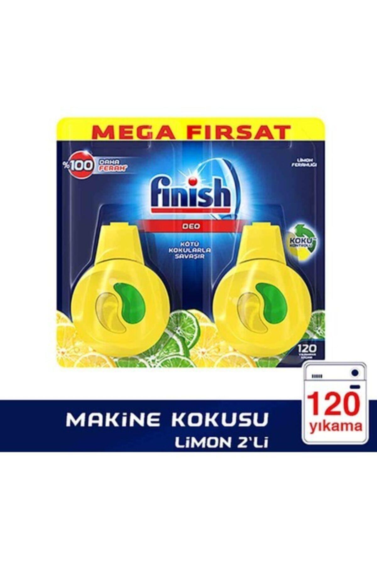 Finish Bulaşık Makinesi Kokusu Limon 2'li Paket 1