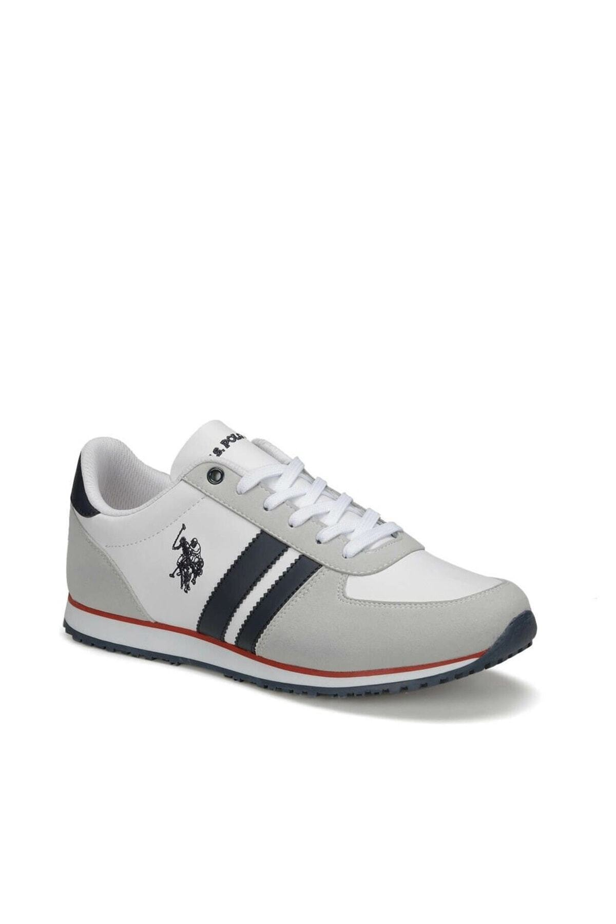U.S. Polo Assn. PLUS WT 9PR Beyaz Erkek Sneaker Ayakkabı 100418097 2