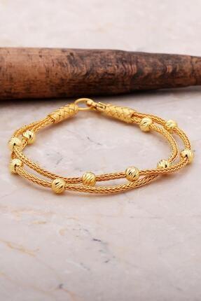 Sümer Telkari Dorissa Altın Yaldızlı Kazaziye Işlemeli Gümüş Bileklik 3539