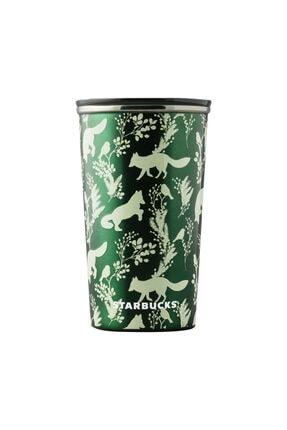 Starbucks ® Tilki Desenli Yeşil Termos 355 ml