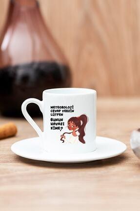Hediyedukkani Bunun Havası Kime Beyaz Türk Kahvesi Fincanı