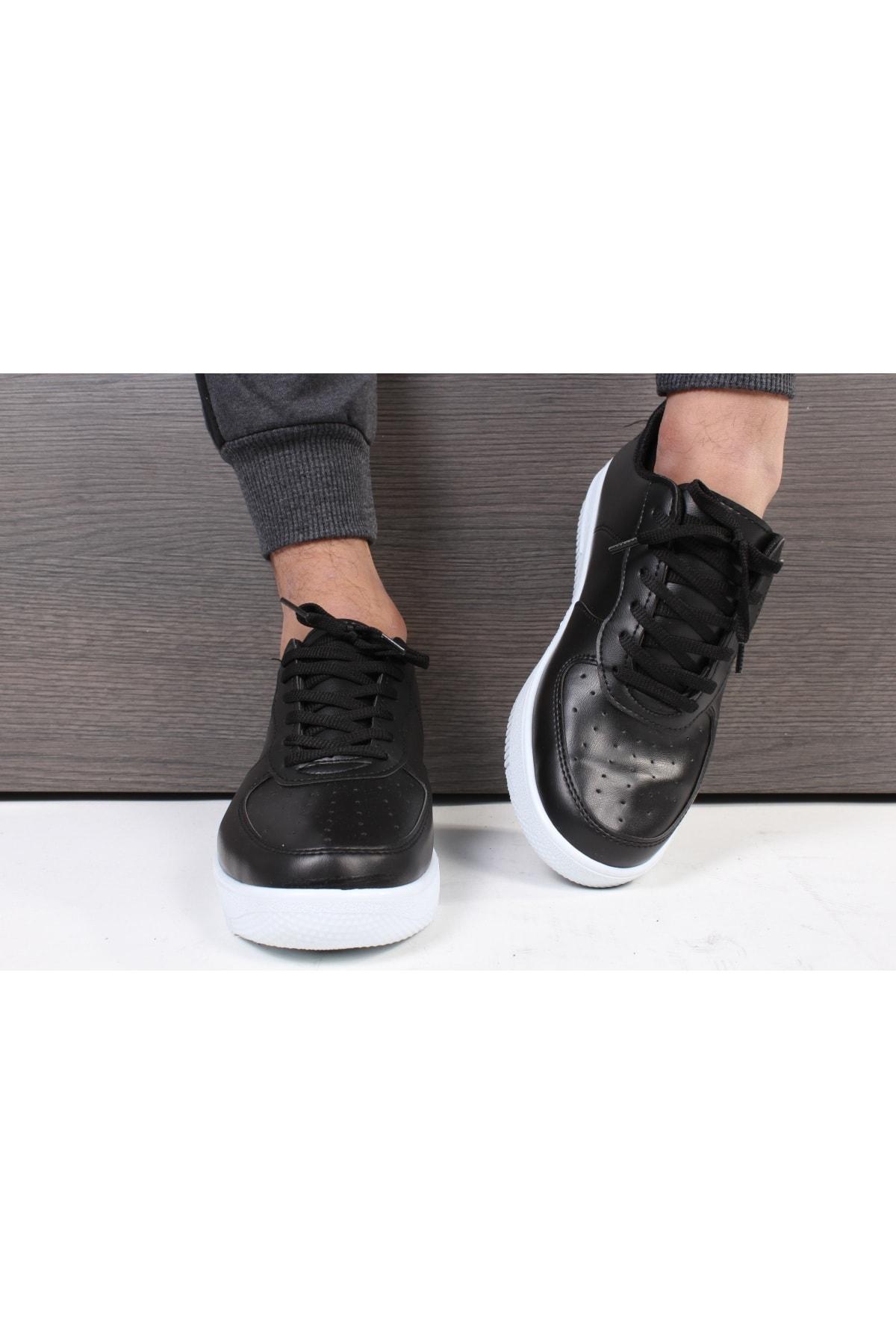 TREND YAŞAR Unisex Siyah Beyaz Sneaker Günlük Spor Ayakkabı 2