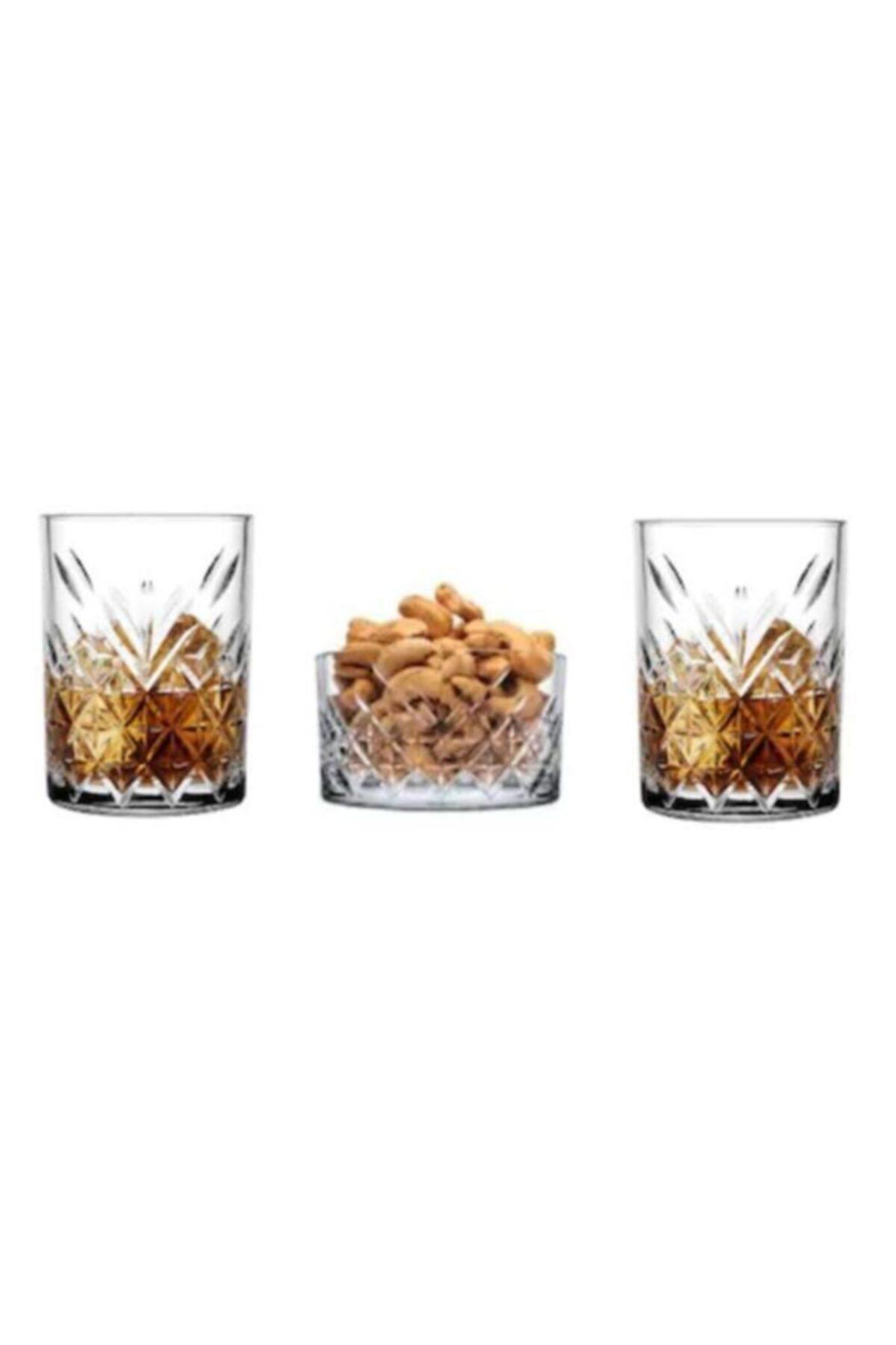 Paşabahçe Timeless 3 Parça 2 Kişilik Viski Bardağı Seti 1