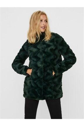 Vero Moda Vmcurl Hıgh Neck Faux Fur Jacket Col