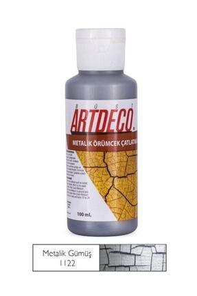 Artdeco Örümcek Çatlatma Boyası 1122 Metalik Gümüş