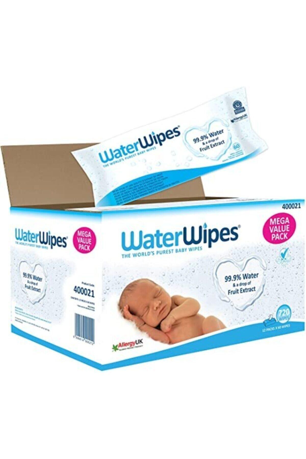 WaterWipes Doğal Islak Mendil 60 lı X 12 Adet (720 Yaprak) 1