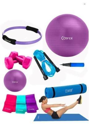 Cosfer Csf-tr033 8 Li Pilates Seti Pilates Minderi Csf-tr33