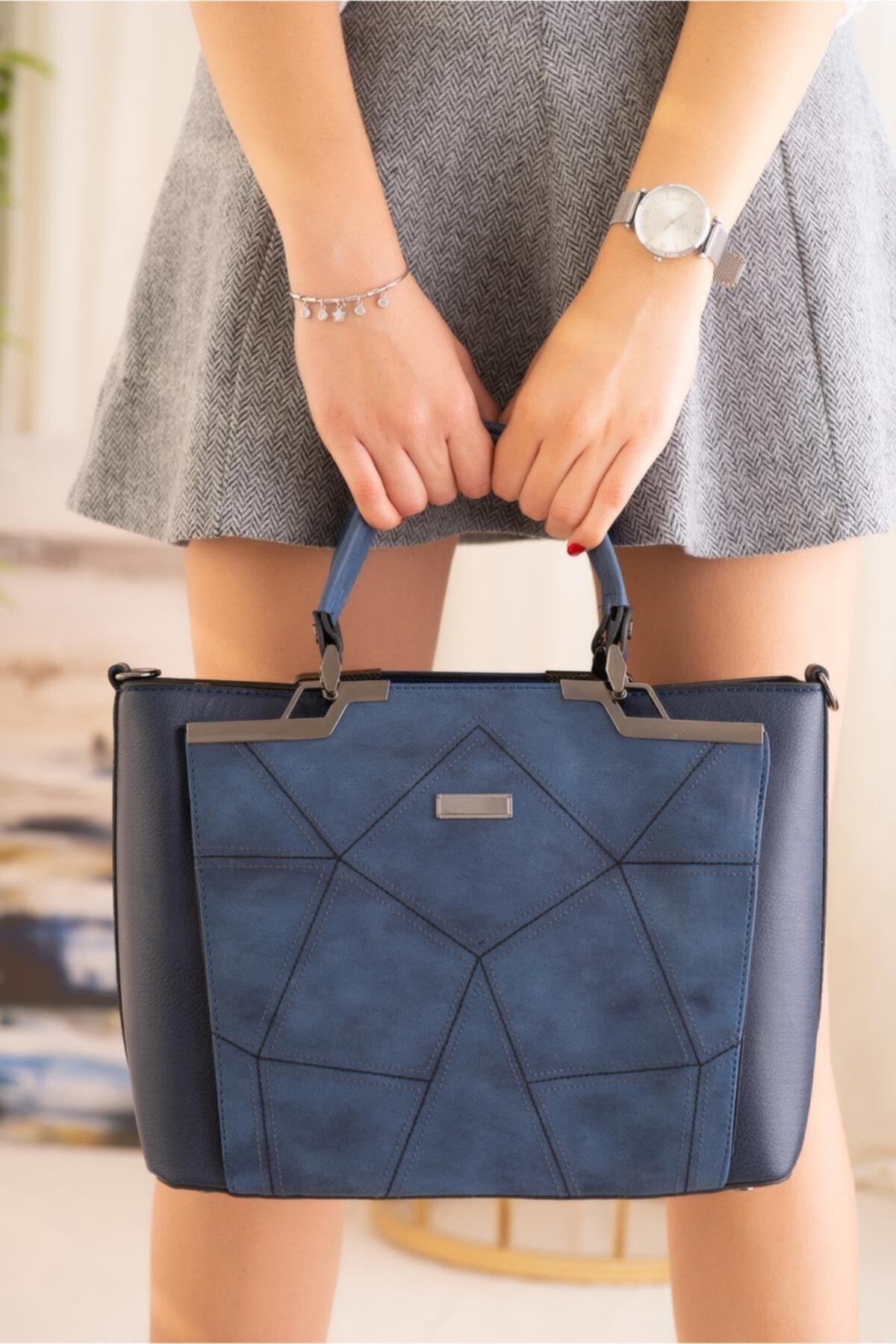 Limoya Bags Kadın Lacivert El ve Omuz Çantası 1