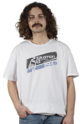 Salomon Erkek  Beyaz Baskılı Tshirt S20mghulam