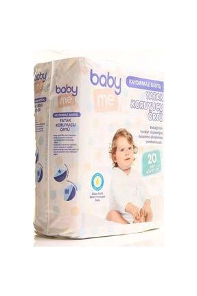 Baby&Me Baby Me Kaydırmaz Bantlı Yatak Koruyucu Örtü 60x90 Cm 20 Adet