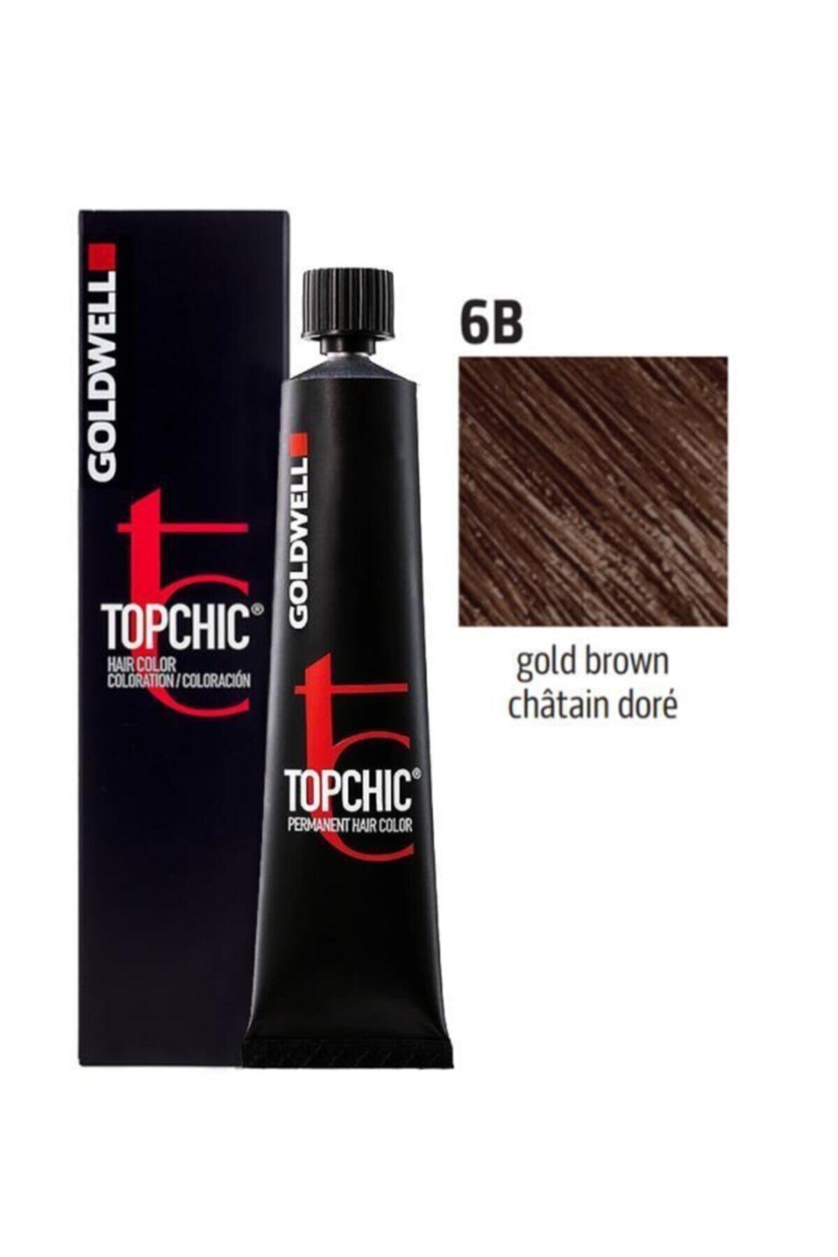 GOLDWELL Topchic Kalıcı Saç Boyası 60 Ml 6b Altın Kahve Ve Oksidan 1