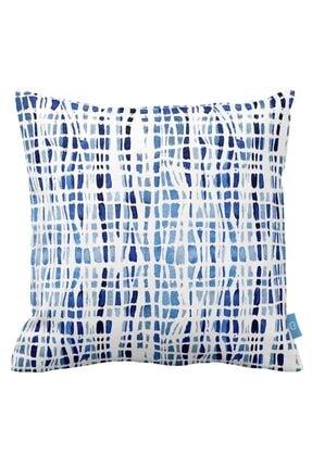 Mizalle Home Mavi Tonları Dekoratif Yastık Kılıfı (43x43)