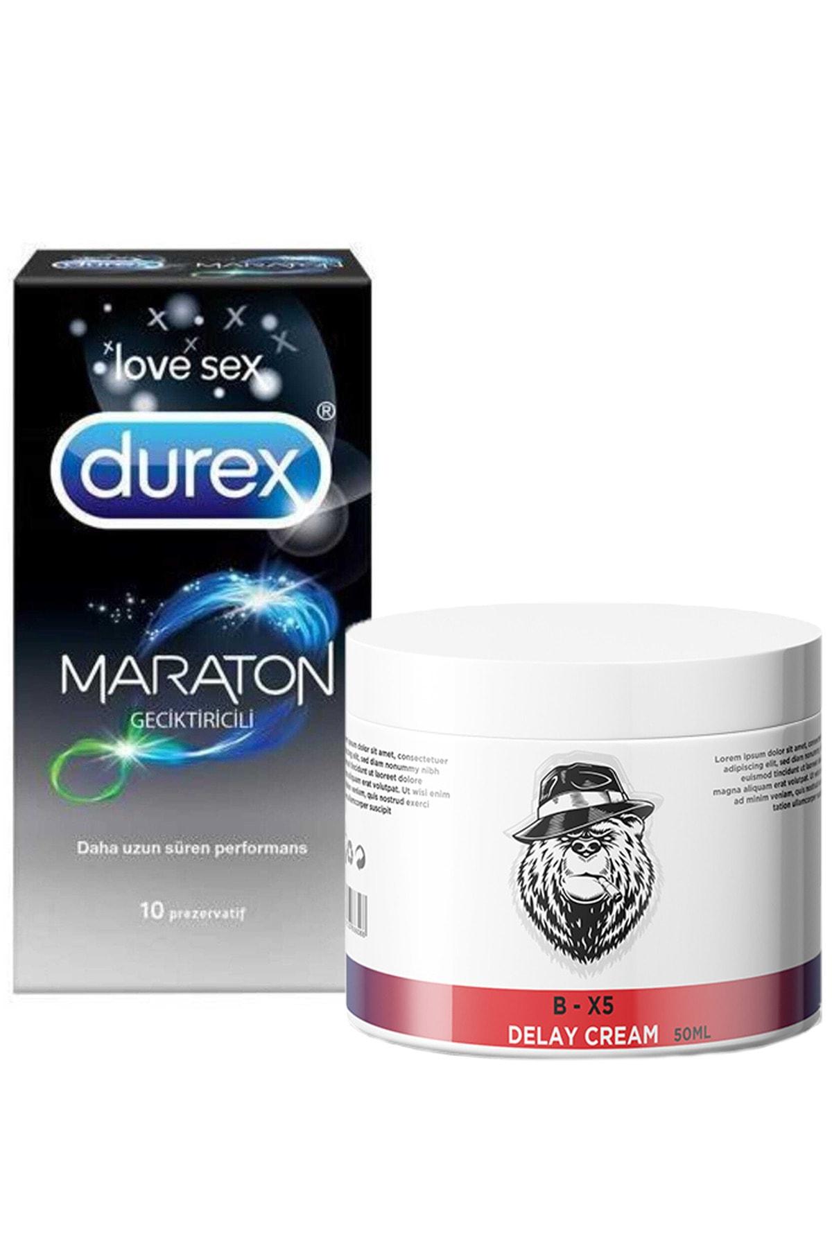Durex Maraton Prezervatif Delay Krem Bx5 Delay 100 Ml 1