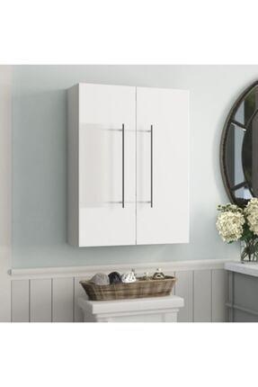 Taç-Dek Taç Dekorasyon Çamaşır Makinesi Üstü Dolabı Beyaz 2'li
