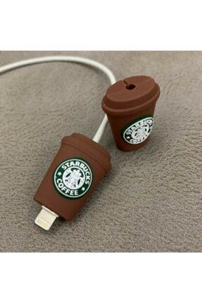 MY MÜRDÜM Şarj Aleti Kulaklık Için Starbucks Kablo Koruyucu
