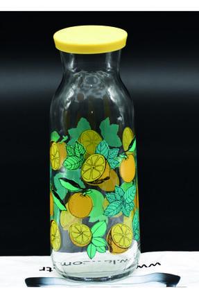 LAV Fonte Limon Desenli Silikon Kapaklı Karaf-sürahi 1210cc
