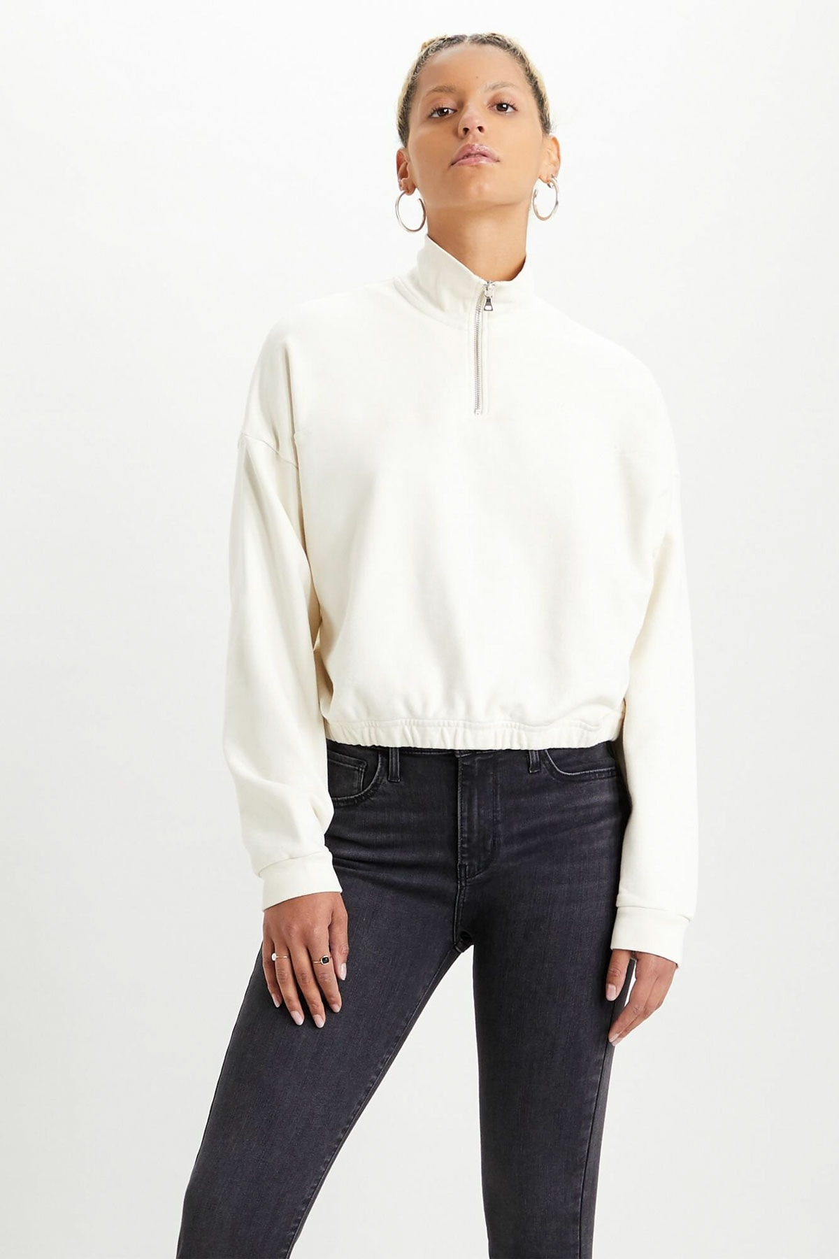 Levi's Kadın Quarter Zip Sweatshirt 21551-0001 1