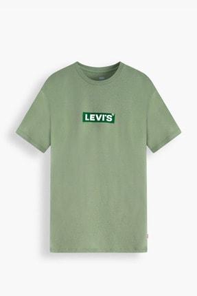 Levi's Baskılı Bisiklet Yaka % 100 Pamuk T Shirt Erkek T Shirt 85785