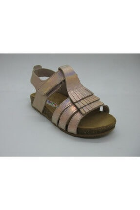 Toddler Kız Çocuk Pembe Hakiki Deri Anatomik Mantar Taban Sandalet 21-25 01217