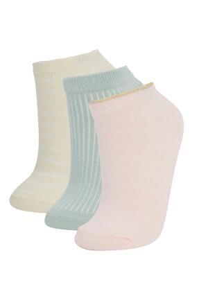 DeFacto Kadın Pembe Patik Çorap 3'lü