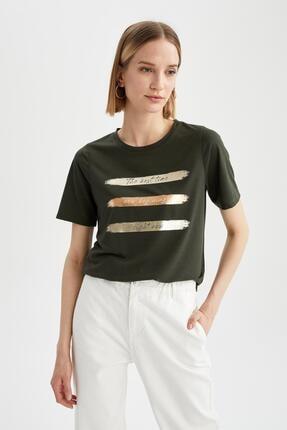 DeFacto Kadın Regular Fit Baskılı  T-Shirt
