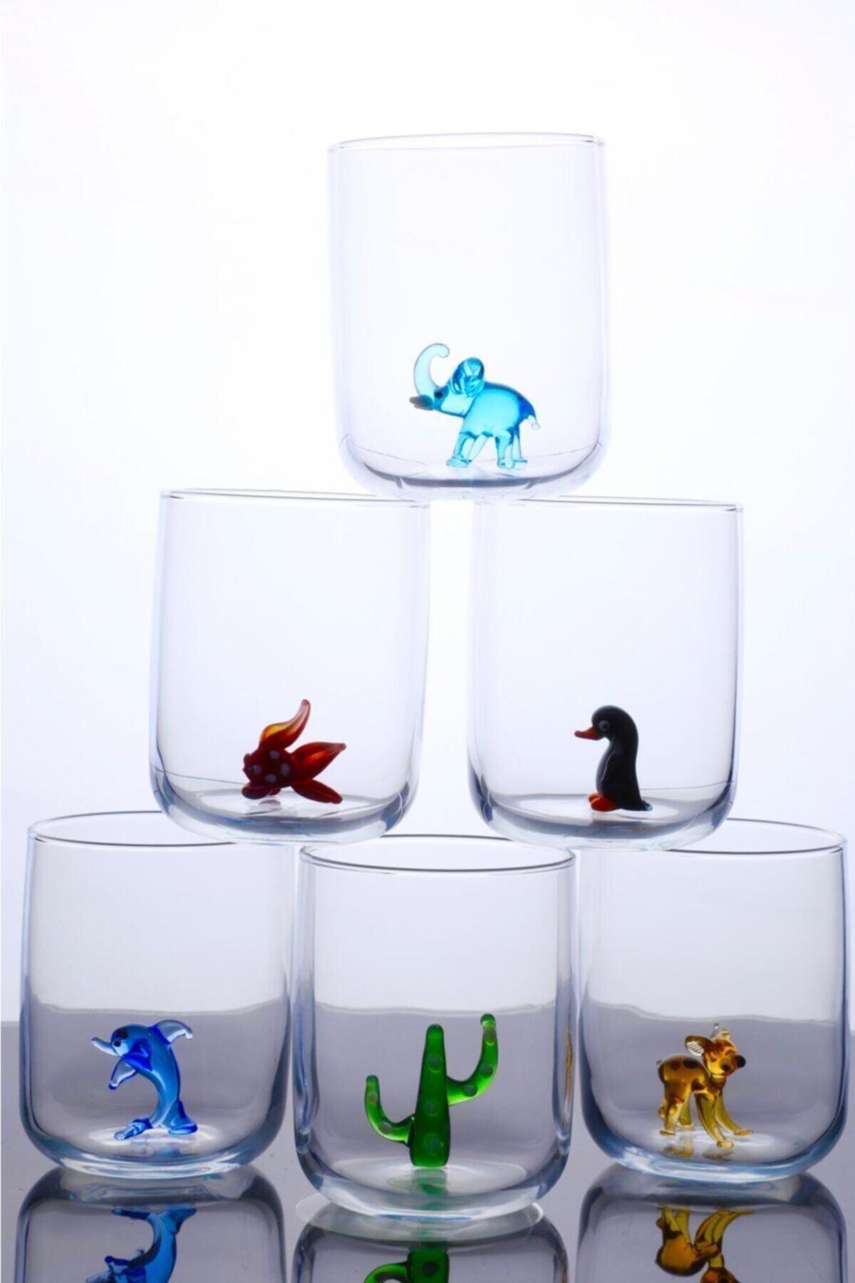 mosaicturk Hayvan Figürlü 6'lı Su Bardağı Seti 1