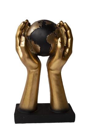 Hediye Vitrini 1. Kalite Elde Küre Gold Dünya Biblo Ev/ofis Dekorasyon Hediyelik Aksesuar
