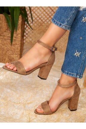 ayakkabıhavuzu Topuklu Ayakkabı - Nude Süet