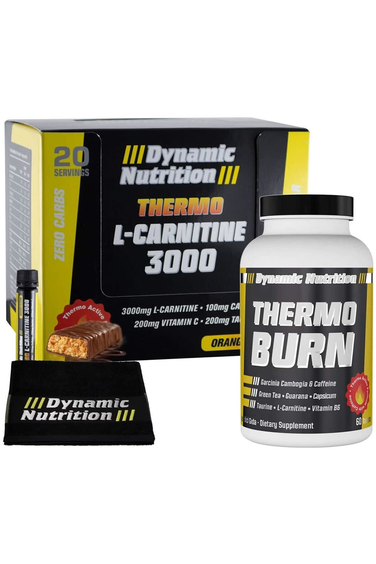 Dynamic Nutrition Dynamic Thermo L-Carnitine 3000 mg 20 Ampul + Thermo Burn 60 Tablet + 3 HEDİYE 1