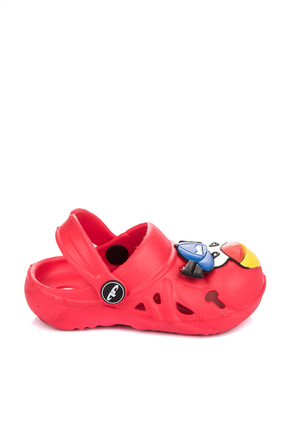 Pembe Potin Kırmızı Çocuk Terlik A083-17