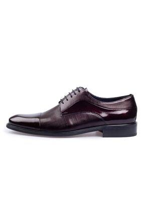 Flower Erkek Bordo Rugan Klasik Ayakkabı