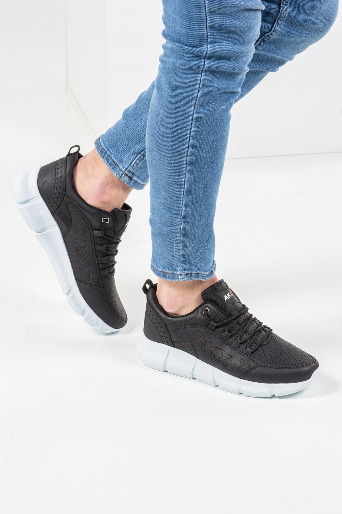 L.A Polo 021 Siyah Beyaz Erkek Spor Ayakkabı 2