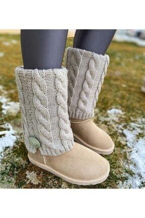 tugcebaykal shoes Örgü Detay Uzun Bot